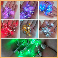 Wholesale Light Up Stainless Led Blinking Earrings Studs Dance Party Accessories For Party Xmas fancy gift