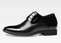 Wholesale Male elevator shoes men s cm increased stealth leather business formal shoes men s Dress Shoes Genuine leather shoes Size