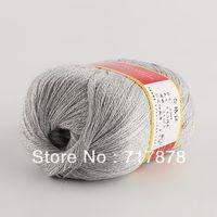 Yarn 85% Wool + 15% Anti-pilling Fiber 24S/2 (Medium/Thin) 1pc Gray color New 50g Ball Worsted Silk Soft Wool Cashmere Warm Baby Handcraft Yarn Knitting freeshipping dropshipping