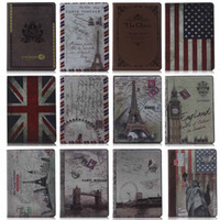 Wholesale British Case Magnetic Smart PU Leather Cover Backing ipad case stand Skin For ipad ipad mini