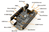 Wholesale 4G Updated Version BeagleBone Black GHz ARM TI AM3358 Cortex A8 Development Board Black