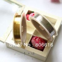 Other Jewelry Findings lian 0.5MM 10Pcs Mix Silver & Gold Enamelled Metal Copper Wires Ropes DIY Making Jewelry Findings