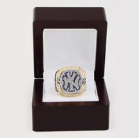 -Replica Al por mayor de 1999 Tamaño del anillo Nueva York Y Campeonato Mundial de Serie 11 El mejor regalo del ventilador Hombres 18k plateó la joyería de la alta calidad