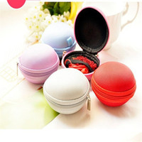 Coin Purses Yes Zipper 3Pcs lot Cute Round Hard Storage Coin Purse Wallet Case for Earphone Headphone Earbuds SD TF Cards mini Bagn 5 Colors E2070