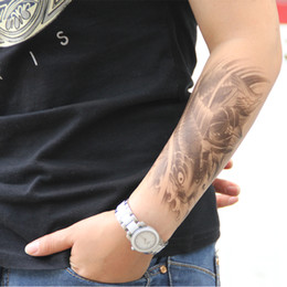 Wholesale One hundred million off color tattoo totem tattoo stickers affixed carp Original Tattoo female simulation tattoo stickers