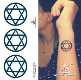 Wholesale One hundred million off color tattoo stickers hexagram tattoo stickers waterproof tattoo stickers tattoo stickers Women