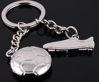best soccer games - NEW Fashion Olympic Games Football and soccer shoes metal alloy Key Chain High Quality keychains best gift GX