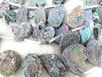 Wholesale mm full strand Druzy Agate Nugget Stone freeform nuggets spikes mixed charm jewelry bead