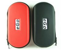 Leather Ego Zipper Multi Colors eGo Zipper Case EGO Medium ZIPPER CASE Vaporizer E Cigarette Lanyard Pouch Purple Black Leopard VGO Storage Mesh Pockets E-Cigs Dry Vape 1PC