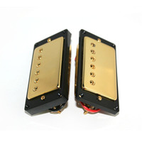 Wholesale New Humbucker Pickups Set Golden Cover With Black Frame Fit Used For Les Paul Guitar