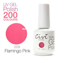 Wholesale Civi UV Gel Polish Gorgeous Colors The Best soak off Color Gel Nail Polish Flamingo Pink