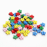 Quilt Accessories Buttons Beads New Bulk 100g lot 600pcs Wood Button Multicolor Star Shaped Fastener Fit for Clothing Making Free Shipping ZFI1