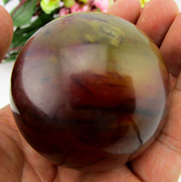 Wholesale Natural Old Hsiuyen Jade Quartz Magic Crystal Healing Ball Sphere mm Stand