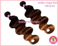 Malaysian Hair Body Wave Malaysian remy hair  100% Virgin Malaysian Remy Human Hair Extensions HOT Ombre Color #1b#4#27 Body Wave Hair Weft 12''--30'' 3pcs  lot DHL Free Shipping