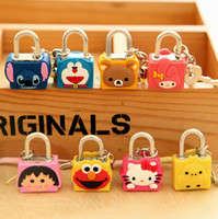 Wholesale Cartoon Animal MINI Password Lock Fashion Luggage Lock Security Padlock Travel Supplies SH724