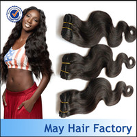 Indian Hair Body Wave Factory Direct Supply Large in stock Indian virgin hair weave 3 4pcs lot free shipping natural color can be dyed and bleached
