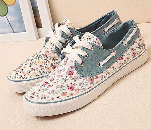 Womens Sneakers Run New Princess Women Canvas Floral Print Shoes ...
