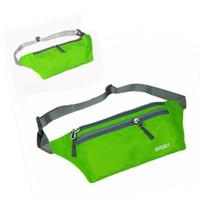 Polyester fanny packs - 6pcs Unisex Running Bum Bag Travel Handy Hiking Sport Fanny Pack Waist Belt Zip Pouch CA05041