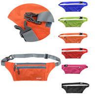 Wholesale 1 pc Unisex Travel Handy Hiking Sport Fanny Pack Running Bum Bag Belt Zip Pouch New Waist Packs Pouch CA05041