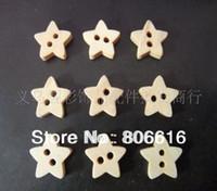 Cheap 12MM (500pcs) Star Shape Fashion Wood Buttons Children Garment Accessories