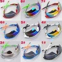 Cheap 2014 Hot Sales Designer Sunglasses Men Women Double Color Cycling Mirrors Wind Sunglasses Sports Sunglasses 9 Styles Fashiong Sunglasses