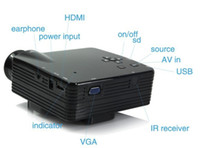 Wholesale LED Mini HDMI Projectors LCD Portable Projector VGA Cheapest Home Theater Proyector Beamer Remote control