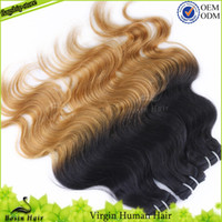 Wholesale Two Tone Ombre Hair Extensions Mix Length Human Ha...