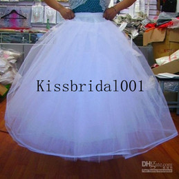 Wholesale Cheap Bridal Gowns Petticoat Petticoats Underskirt Ball Gown Tulle Wedding Dresses With Hoop Beautiful Bridal Accessories Cheap In Stock