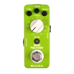 Descuento efectos de modulación Mooer Mod Factory Efecto de modulación Pedal recolectado 11 tipos de efectos de modulación clásica tapa completa de metal true bypass MU0526