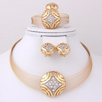 Celtic african jewelry set - fashion New Arrival African Women Wedding Golden Necklace k Gold Plated Jewelry Sets A1140