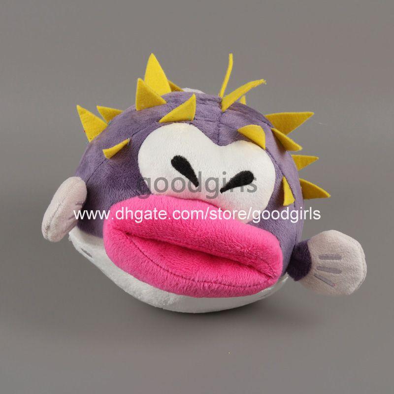 Best quality super mario bros puffer explosion fish plush for Puffer fish stuffed animal