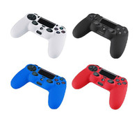 50pcs / lot Multicolor Silicone Rubber Soft Protective Case Gel Skin Cover pour PS4 Controller silicone case Qualité Wholesale FAST SHIPPING