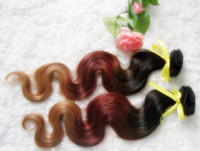 Brazilian Hair Body Wave brazilianremy hair  HOT !!! Ombre Hair #1b#33#27 Body Wave Hair Weft 100% Virgin Brazilian Remy Human Hair Extensions 12''--30'' 3pcs lot DHL Free Shipping