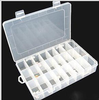 3-4 Years Multicolor Rubber Wholesale-2014 NEW ITEM Plastic Storage Box For Store Loom Bands, loom kit Have 24 Slot 100PCS A LOT407