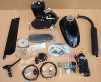 Electric 2 Stroke Water-Cooled 80cc 2 Cycle Engine Motor Kit for Motorized Bicycle Bike Black Body