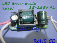 Wholesale x3W led driver inside W lamp driver V input constant current led power supply best quality