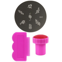 Wholesale Flower Nail Templates Scraper Stamping Plates Stamper for Manicure DIY Nail Art Tool Set NAS_226