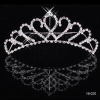 Wholesale Cheap New Shining Rhinestone Crown Wedding Bride Tiaras Fashion Crowns