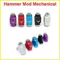 Adjustable   Hammer Mechanical Mod e cig colorful pipe Mod 18350 battery body for 510 Thread Atomizer E Cigarette starter kit