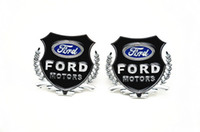Wholesale 2 silvery golden car emblem sticker Ford metal decorate accessories Side emblems