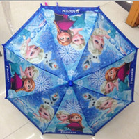Wholesale 2014 hot Arrival Cartoon Frozen Umbrellas Elsa Anna Princess Children Umbrella the gift for children cm Frozen Series