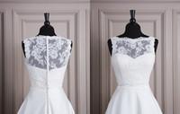 Wholesale Sleeveless Bride Lace Jacket White Ivory Wedding Bolero For Wedding Dress Party Formal Elegant Accessories Cheap High Quality