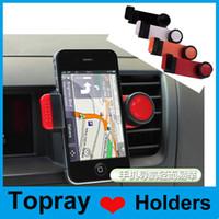Universal 360 degrés tournant Car Air Vent Support Holder Stands pour iPhone Samsung GPS MP4 avec forfait au détail