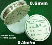 Other Jewelry Findings Guangdong, China (Mainland) DIY Accessories 0.3mm-0.6mm Diameter Silver Copper Wire, Jewelry Wire Metal Cord 2 Sizes Available Free Shipping (LN117)