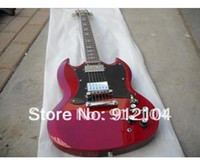 Solid Not Specified Left-handed HIGH QUALITY hot selling G+LP+ SG electric guitar coustom +softcase winered guitar+free shipping