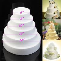 Wholesale quot quot quot quot Round cake dummy styrofoam fake sugarcraft decorating flower modelling practice