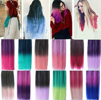 Wholesale wig straight hair gradient hair piece Hair Extensions Ombre Color design