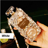 For Samsung Silicone  For Samsung Galaxy S5 S4 S3 note 2 3 Grand duos Mega 5.8 Soft TPU cover Luxury Rhinestone Diamond perfume bottle protective phone case