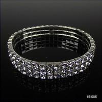 achat en gros de elastic-Livraison gratuite Chaîne élastique chaude chaude chapeauté Bracelets en cristal Bracelet Bracelets Vente en gros Bracelets Bijoux Party 15006