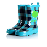 Rain Boots Men USB Sale of new boys and girls boots boots Korean fashion boots -in-tube latex slip rubber boots water shoes cartoon